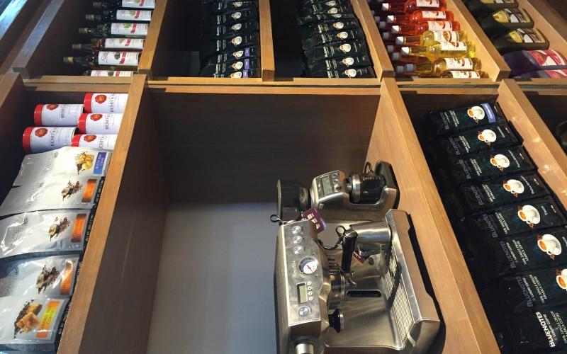 Conlins Coffee display area.